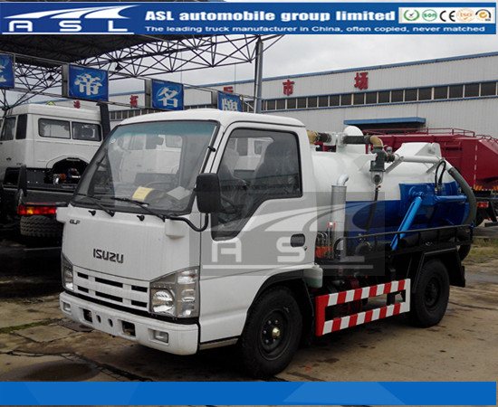 China 2CBM Isuzu Vacuum Trucks produced well