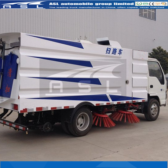 China ISUZU 3CBM Road Sweepers have passed Myanmar clients inspection