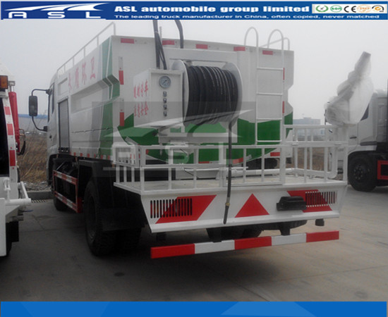 China Best 8CBM Jetting Water Trucks have passed test of flushing sewage