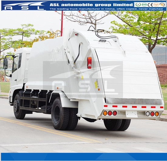 8CBM Dongfeng Refuse Collection Trucks will be used to compact life garbage