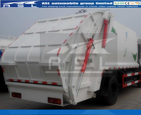 China 6wheels Compactor Garbage Trucks painted white color