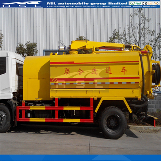 8000L Combined Suction And Jetting Trucks equipped with Cummins engine
