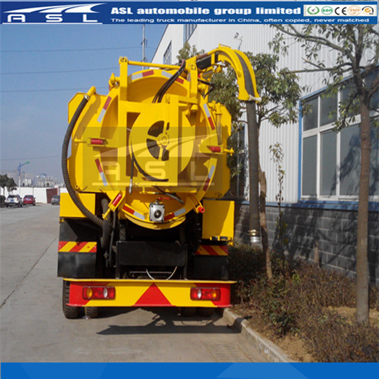 Combined Sewer Flushing And Suction Vehicles has 8000L vacuum tank and water tank