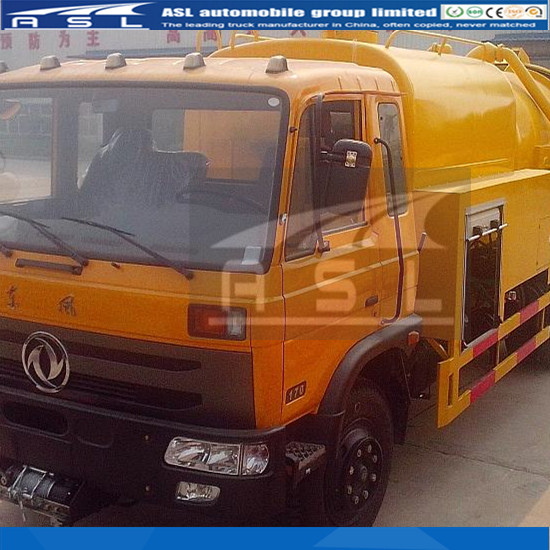 Dongfeng Cummins 6wheels Combine Sewage Trucks has competitive price