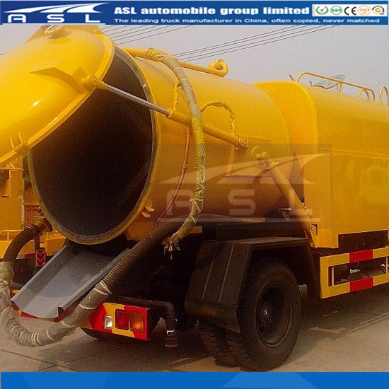 Combination Sewer Cleaning Trucks have vacuum tank and water tank