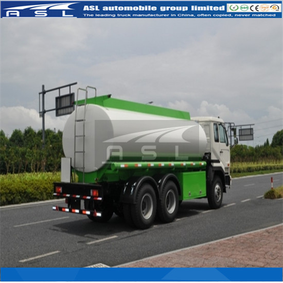 12CBM Nissan Fuel Tanker Trucks painted white and green color