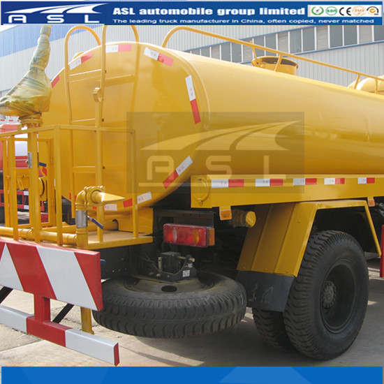 The first time of absorbing water by Dongfeng 8CBM Street Water Sprinkler Trucks should infuse 20kg water into the tank