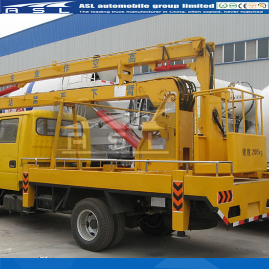 Delivery Ready Aerial Lift Trucks is transferred to upper moving part of vehicle from fastening part