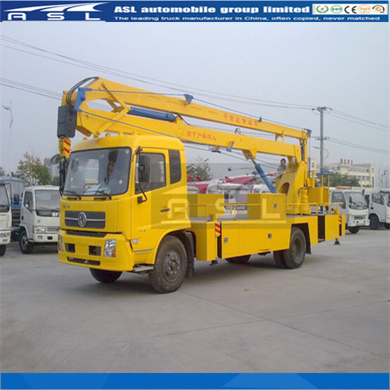 Dongfeng 22m Articulating Aerial Work Platforms will be transported by RORO, bulk or container