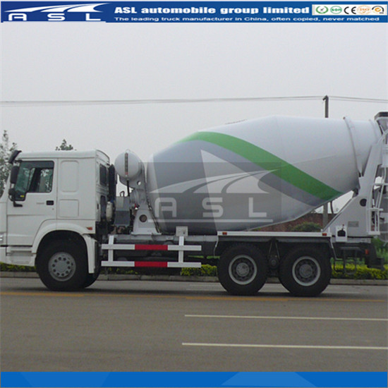 12cbm HOWO Rear Discharge Concrete Mixers are matched with special wear proof bar