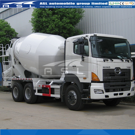 Remarkable Performance HINO 10wheels Concrete Mixers with most advanced comfortable and safety cabin