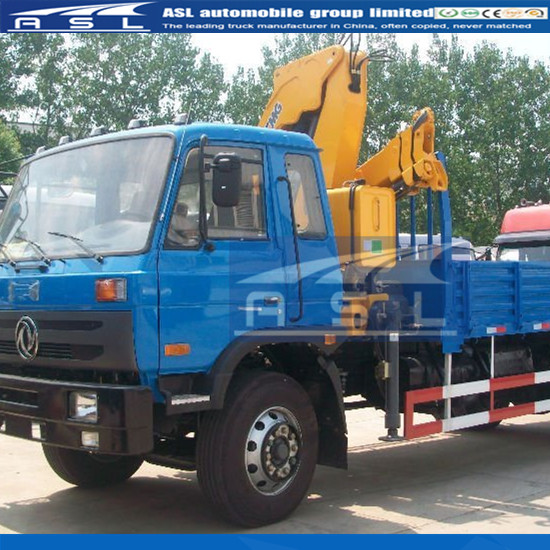 Dongfeng 2axles Truck With Cranes equipped with XCMG crane