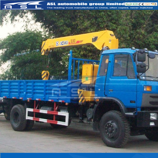6wheels XCMG Lorry Mounted Cranes have Cummins engine