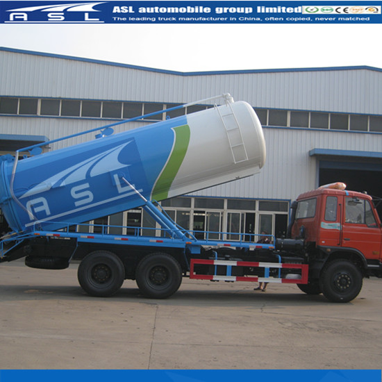 Dongfeng 10wheels 18CBM Sewer Trucks equipped strengthen fecal pipe