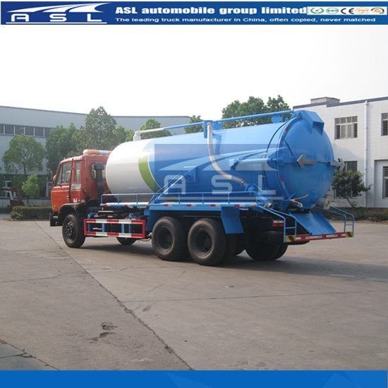 Best Dongfeng 10wheels 16000Litres Vacuum Trucks can work in very serious conditions