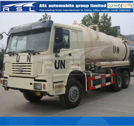 Sinotruk HOWO 15CBM Vacuum trucks produced by UN