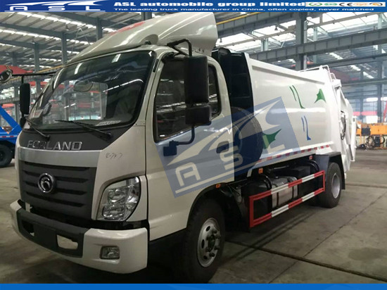 FOTON 6Wheelers Garbage Compactor Trucks export to Kenya