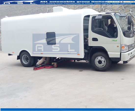 China 6wheels Road Sweeper Suppliers export truck to Paraguay