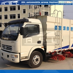 Dongfeng 6Wheels 5CBM Road Sweepers exported to Congo
