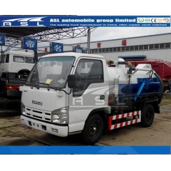 2CBM Japan ISUZU Vacuum Trucks export to Singapore