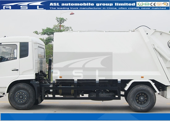 China 6Wheels 8CBM Garbage Trucks will ship to Tanzania