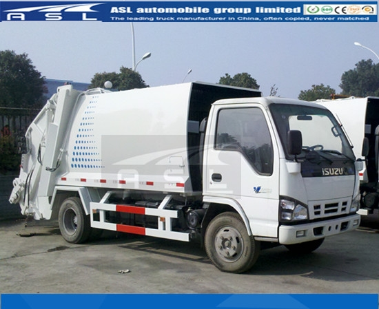 ISUZU 5cbm Garbage Compactor Trucks export to Africa