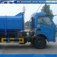 Five Units Dongfeng 8T Hook Lift Garbage Trucks export to Gambia