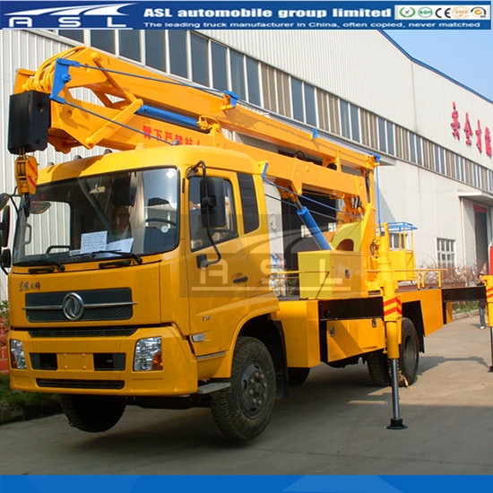 China Dongfeng trucks work platforms export to Indonesia