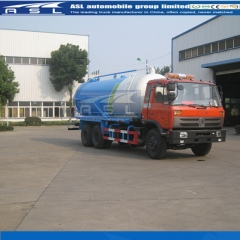 China Best Dongfeng 10wheels 16Cbm Vacuum Trucks export to Benin