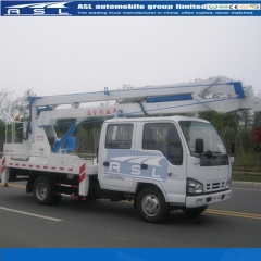 ISUZU 16m Mobile Truck Mounted Boom Lift exported to UAE