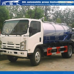 Japan ISUZU 5000Litrtes Vacuum Trucks exported to Burundi