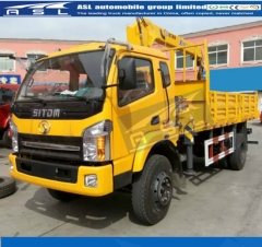 Advanced Dongfeng 6wheels Lorry Cranes export to Timor Leste
