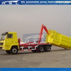 China HOWO 10wheels Garbage Container Loaders purchased by Algeria clients
