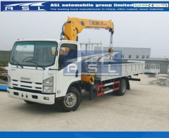 Japan Isuzu 5Tons Lorry Mounted Cranes export to Brunei