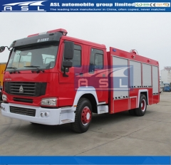 China 12000Litres Pump Fire Fighting Trucks will ship to Cameroon