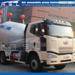 China FAW 8cbm Concrete Mixers export to Lebanon