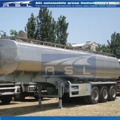 3axles 35CBM Oil tanker trailer exported to Africa