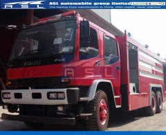 ISUZU 10Wheels Water Tank Fire Trucks imported by Myanmar clients