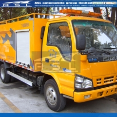 Japan ISUZU 3CBM Water Jetting Trucks exported to Cambodia