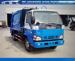 ISUZU Garbage Compactor Trucks painted blue color