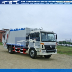 FOTON 8Tons Garbage Compactor Trucks export to Laos