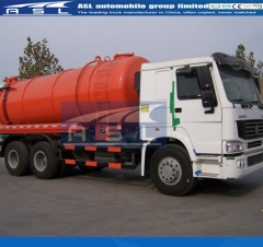 Sinotruk HOWO 18cbm Sewer Trucks export to Zambia