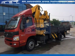 FOTON 3Tons Truck Mounted Cranes export to Gabon
