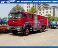 China Beiben Water Tanker Fire Trucks ship to Mozambique